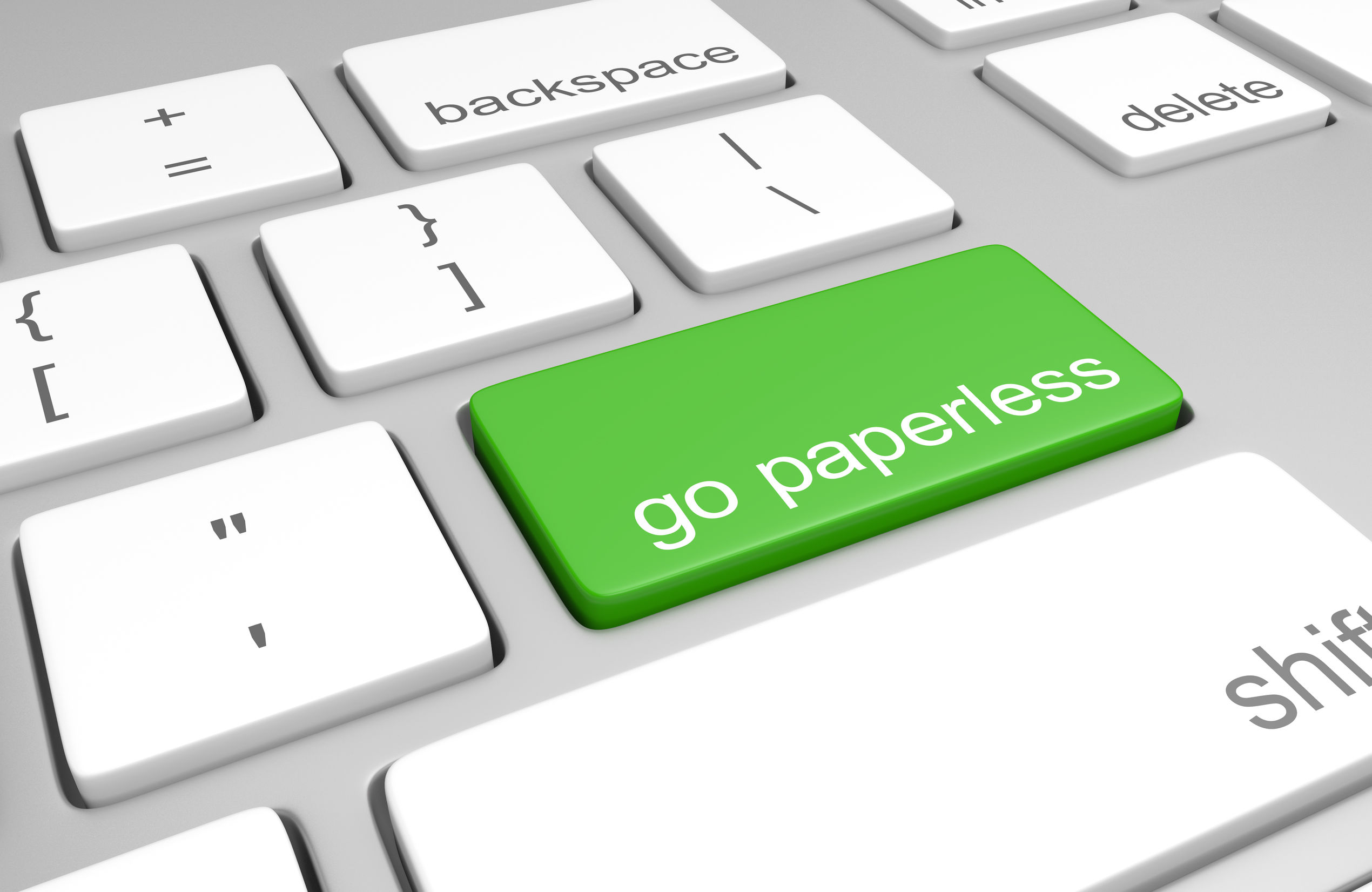 go paperless - concept